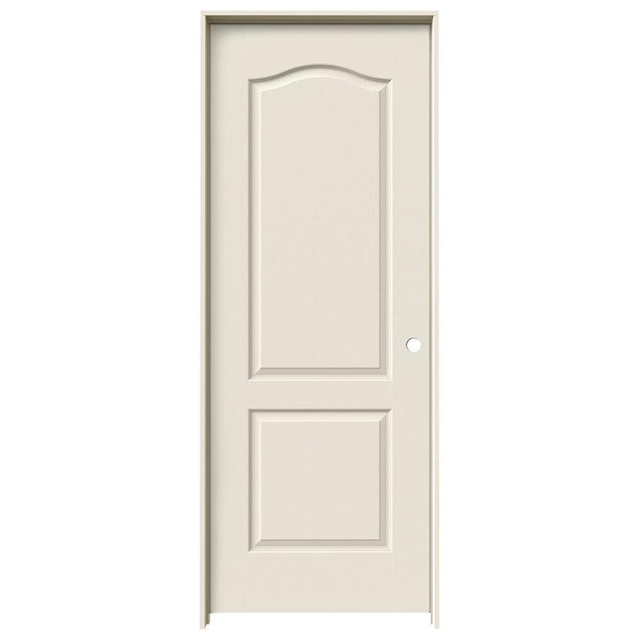 JELD-WEN Prehung Hollow Core 2-Panel Arch Top Interior Door (Common: 30-in x 80-in; Actual: 31.562-in x 81.688-in)