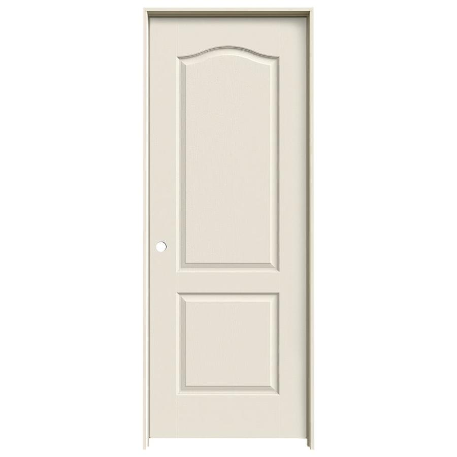 JELD-WEN Prehung Hollow Core 2-Panel Arch Top Interior Door (Common: 32-in x 80-in; Actual: 33.562-in x 81.688-in)