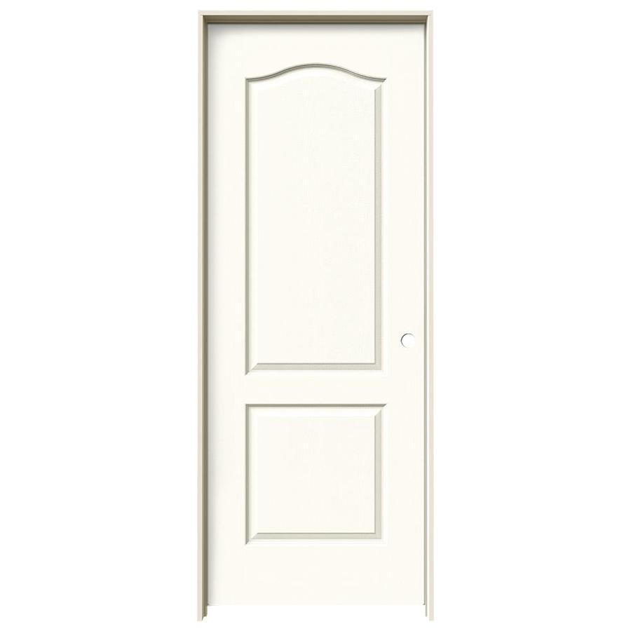 JELD-WEN White Prehung Solid Core 2-Panel Arch Top Interior Door (Common: 24-in x 80-in; Actual: 25.562-in x 81.688-in)