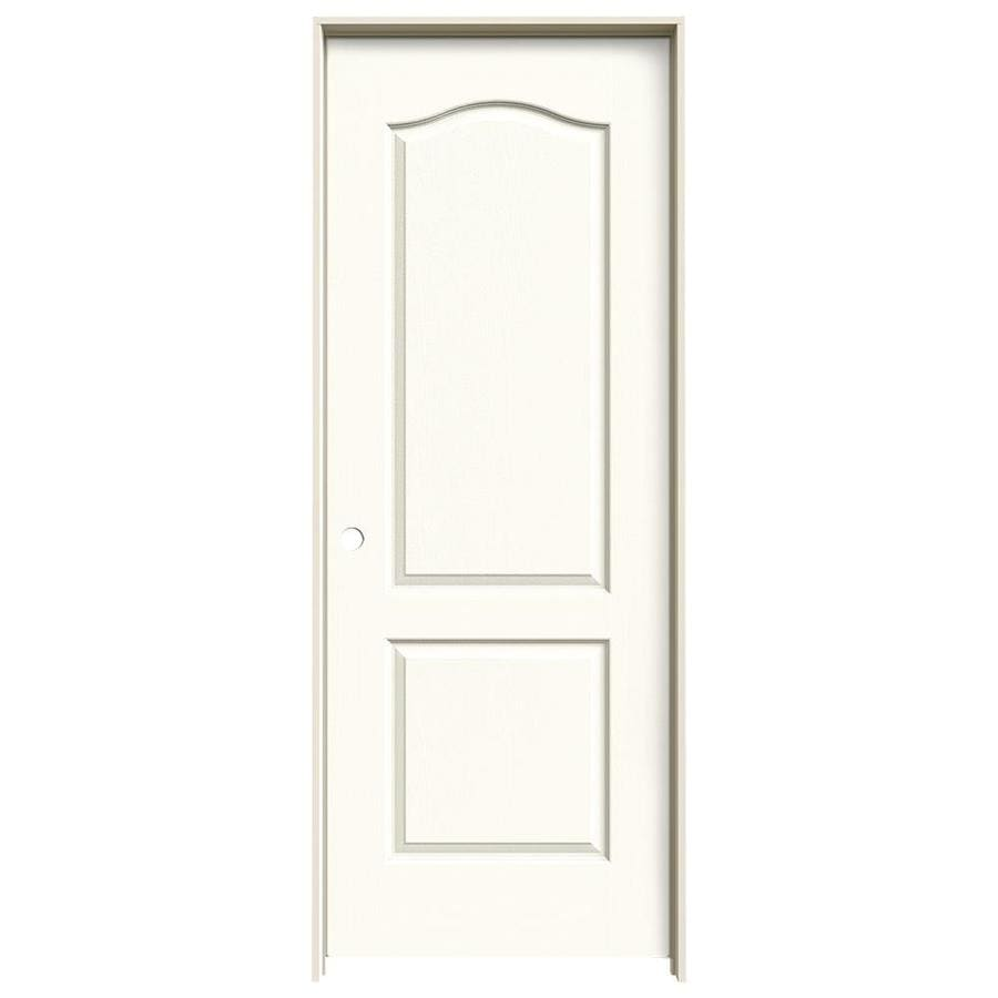 JELD-WEN White Prehung Solid Core 2-Panel Arch Top Interior Door (Common: 32-in x 80-in; Actual: 33.562-in x 81.688-in)