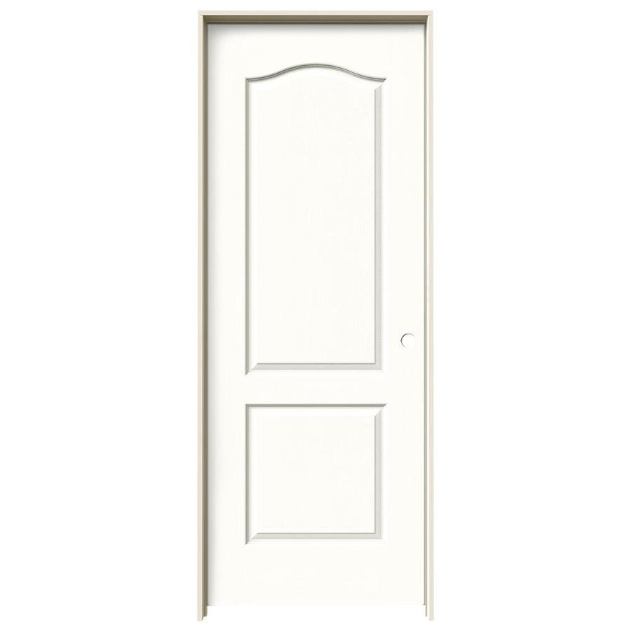 JELD-WEN Snow Storm Prehung Solid Core 2-Panel Arch Top Interior Door (Common: 24-in x 80-in; Actual: 25.562-in x 81.688-in)