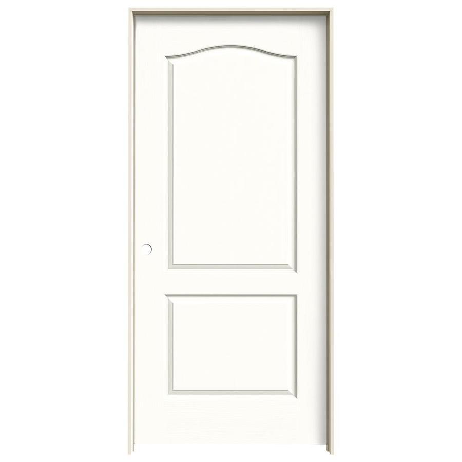 JELD-WEN Snow Storm Prehung Solid Core 2-Panel Arch Top Interior Door (Common: 36-in x 80-in; Actual: 37.562-in x 81.688-in)