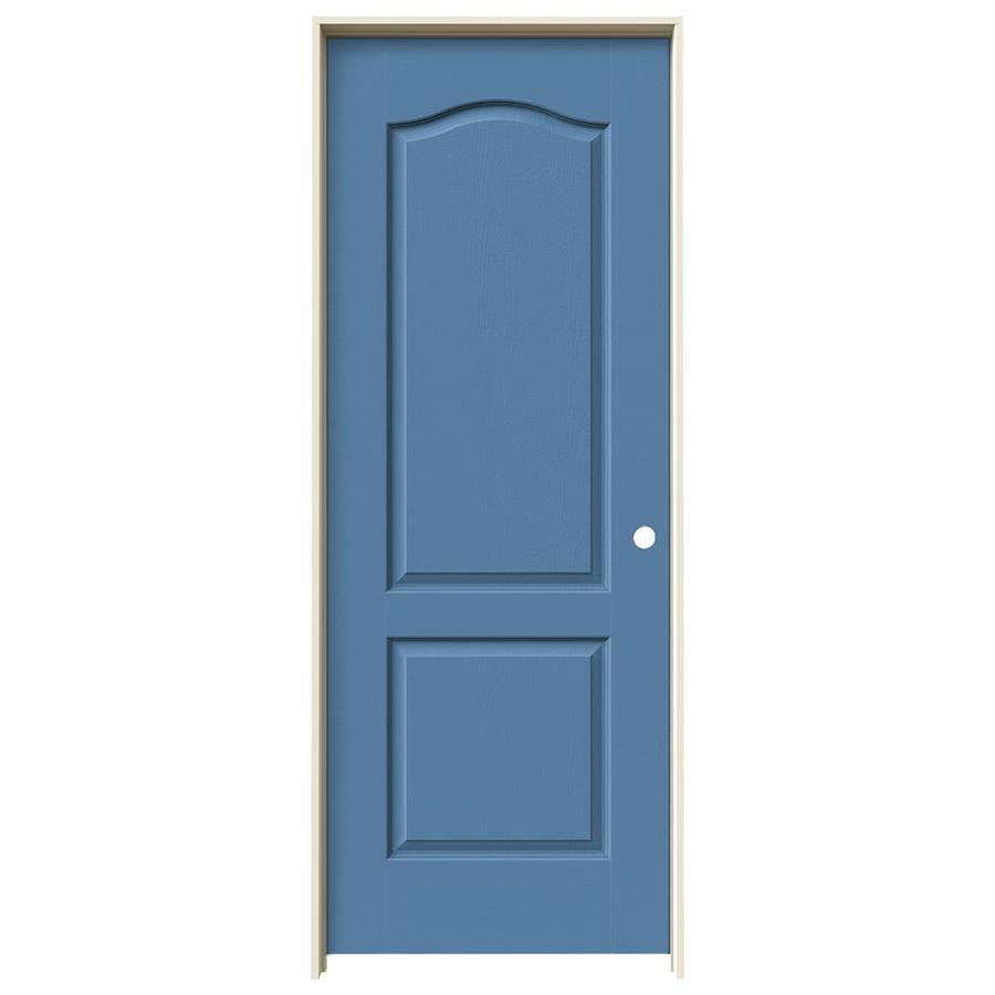 JELD-WEN Blue Heron Prehung Solid Core 2-Panel Arch Top Interior Door (Common: 32-in x 80-in; Actual: 33.562-in x 81.688-in)