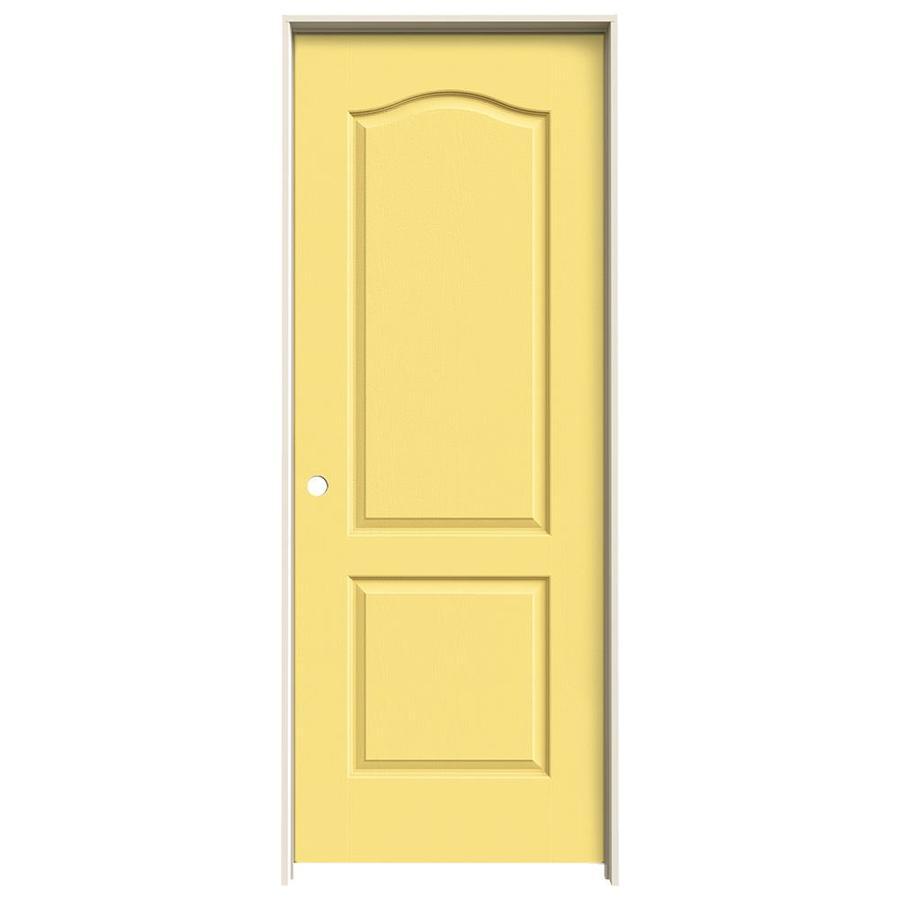 JELD-WEN Marigold Prehung Solid Core 2-Panel Arch Top Interior Door (Common: 24-in x 80-in; Actual: 25.562-in x 81.688-in)