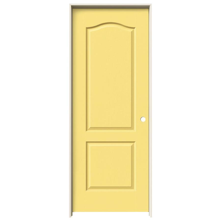 JELD-WEN Marigold Prehung Solid Core 2-Panel Arch Top Interior Door (Common: 24-in x 80-in; Actual: 25.562-in x 81.688-in)