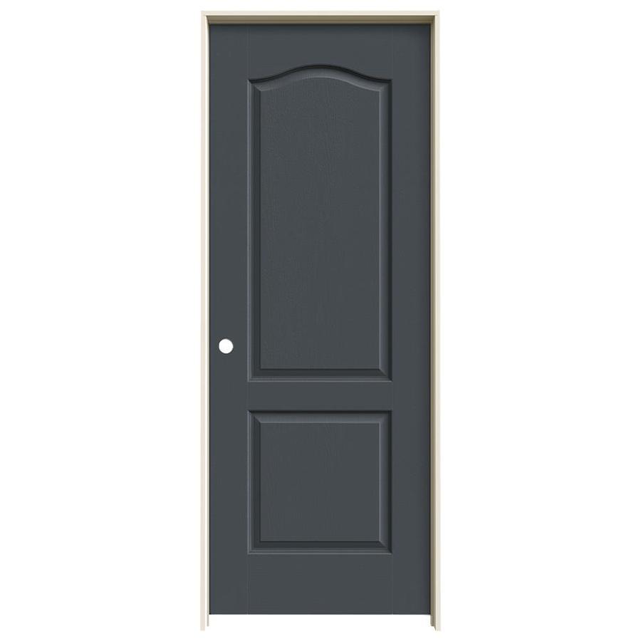 JELD-WEN Slate Prehung Solid Core 2-Panel Arch Top Interior Door (Common: 24-in x 80-in; Actual: 25.562-in x 81.688-in)