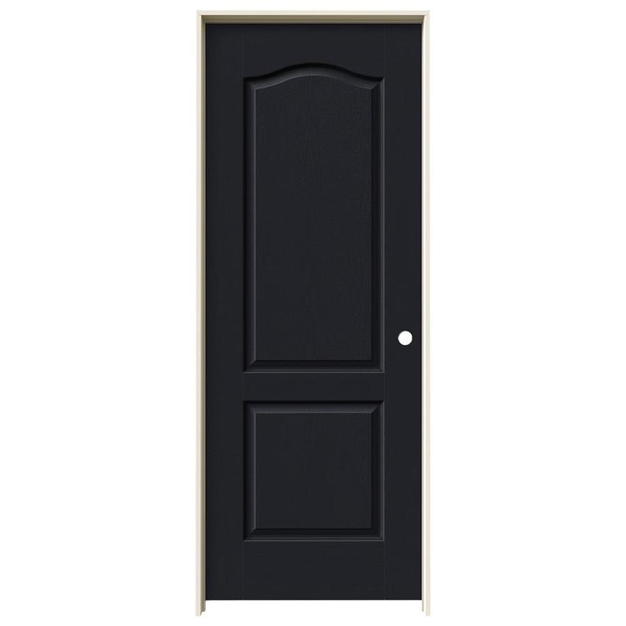 JELD-WEN Midnight Prehung Solid Core 2-Panel Arch Top Interior Door (Common: 24-in x 80-in; Actual: 25.562-in x 81.688-in)