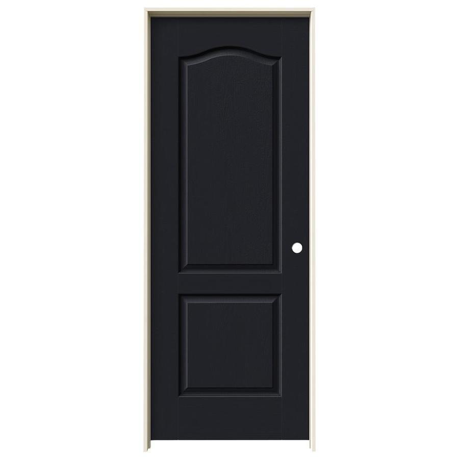 JELD-WEN Midnight Prehung Solid Core 2-Panel Arch Top Interior Door (Common: 32-in x 80-in; Actual: 33.562-in x 81.688-in)