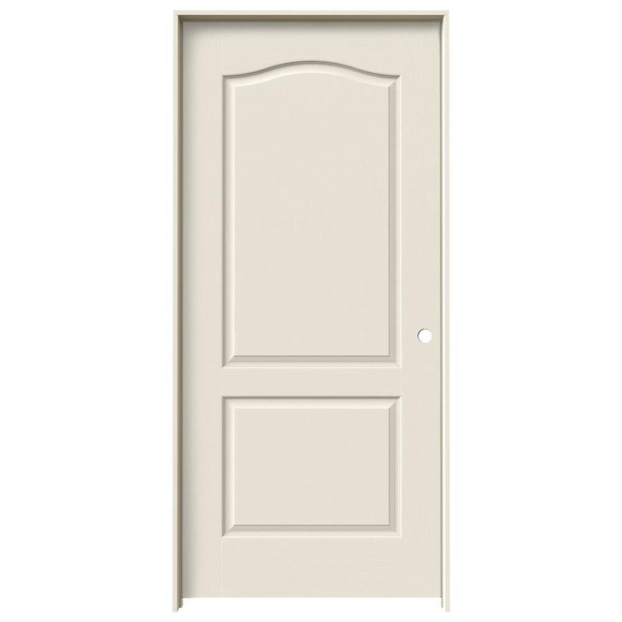 JELD-WEN Prehung Solid Core 2-Panel Arch Top Interior Door (Common: 36-in x 80-in; Actual: 37.562-in x 81.688-in)