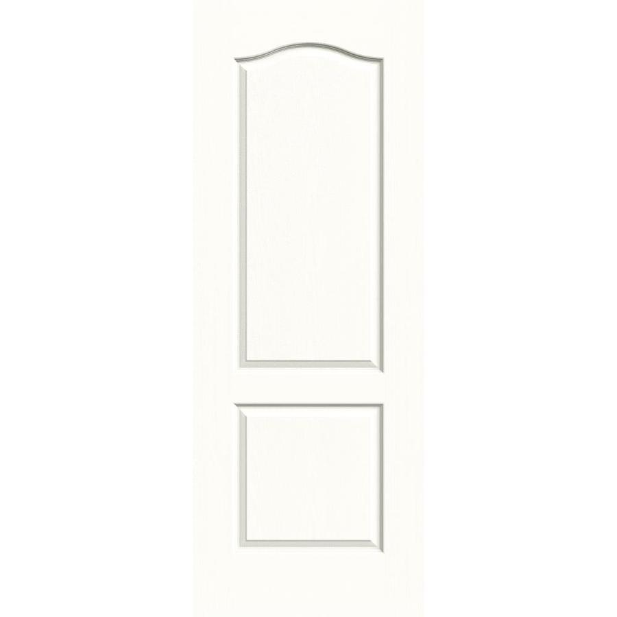 JELD-WEN Snow Storm Solid Core 2-Panel Arch Top Slab Interior Door (Common: 28-in x 80-in; Actual: 28-in x 80-in)