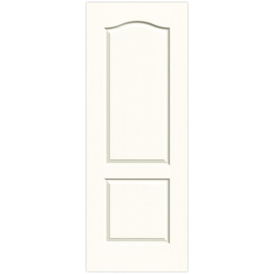 JELD-WEN Moonglow Solid Core 2-Panel Arch Top Slab Interior Door (Common: 28-in x 80-in; Actual: 28-in x 80-in)