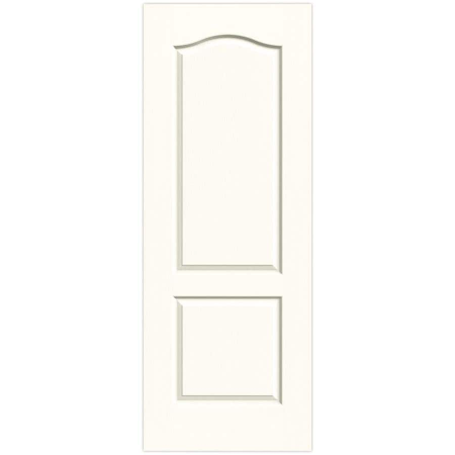 JELD-WEN Moonglow Solid Core 2-Panel Arch Top Slab Interior Door (Common: 30-in x 80-in; Actual: 30-in x 80-in)