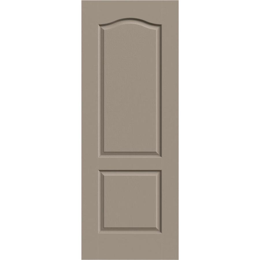 JELD-WEN Sand Piper Solid Core 2-Panel Arch Top Slab Interior Door (Common: 24-in x 80-in; Actual: 24-in x 80-in)