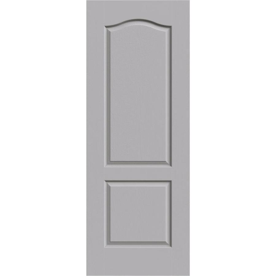 JELD-WEN Driftwood Solid Core 2-Panel Arch Top Slab Interior Door (Common: 24-in x 80-in; Actual: 24-in x 80-in)