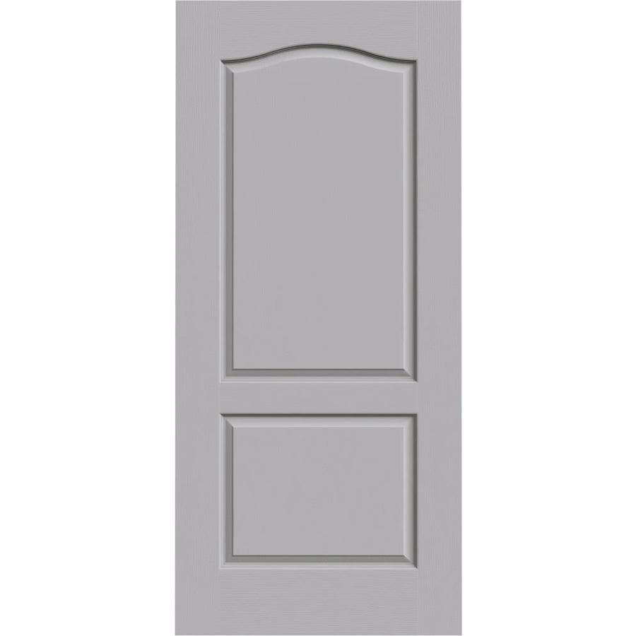 JELD-WEN Driftwood Solid Core 2-Panel Arch Top Slab Interior Door (Common: 36-in x 80-in; Actual: 36-in x 80-in)