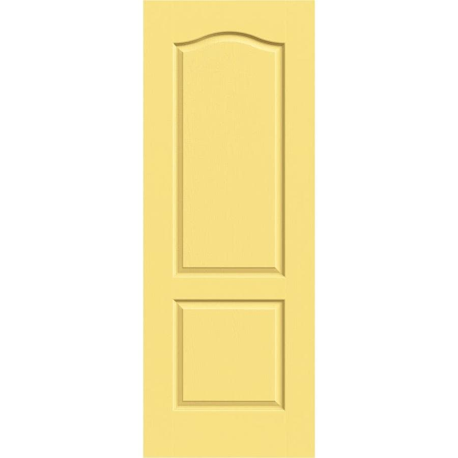JELD-WEN Marigold Solid Core 2-Panel Arch Top Slab Interior Door (Common: 28-in x 80-in; Actual: 28-in x 80-in)