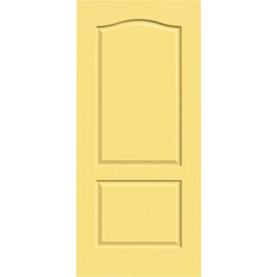 JELD-WEN Marigold Solid Core 2-Panel Arch Top Slab Interior Door (Common: 36-in x 80-in; Actual: 36-in x 80-in)