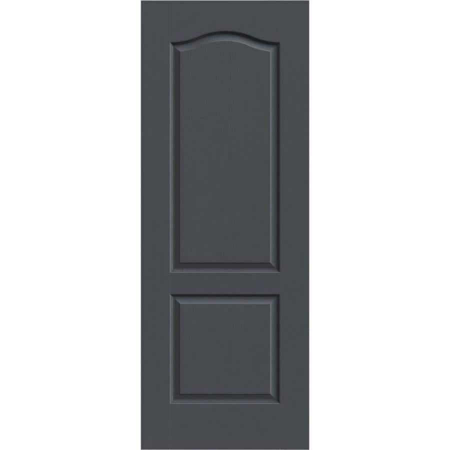 JELD-WEN Slate Solid Core 2-Panel Arch Top Slab Interior Door (Common: 28-in x 80-in; Actual: 28-in x 80-in)