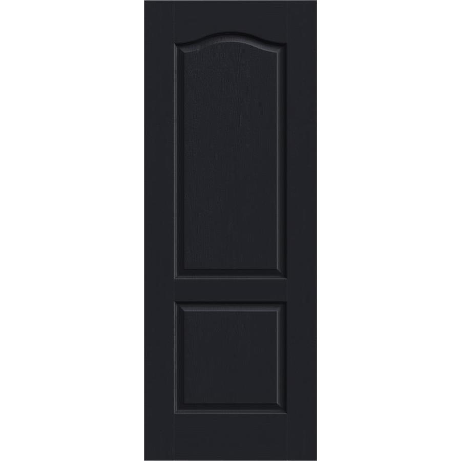 JELD-WEN Midnight Solid Core 2-Panel Arch Top Slab Interior Door (Common: 24-in x 80-in; Actual: 24-in x 80-in)