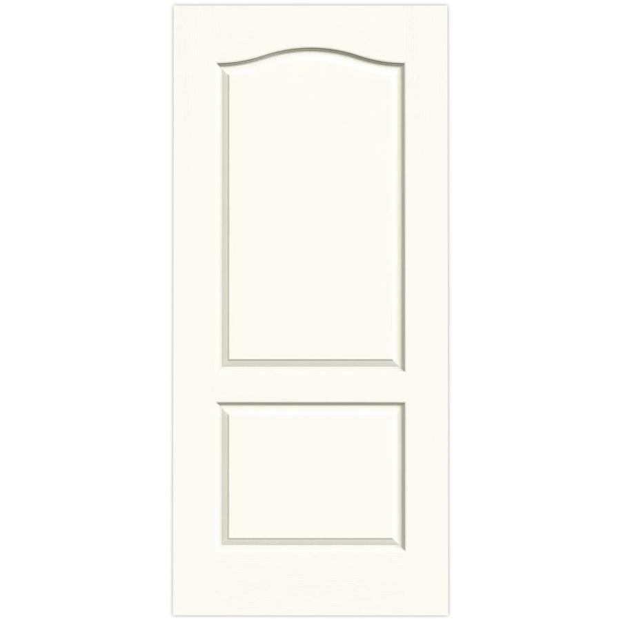 JELD-WEN White Hollow Core 2-Panel Arch Top Slab Interior Door (Common: 36-in x 80-in; Actual: 36-in x 80-in)