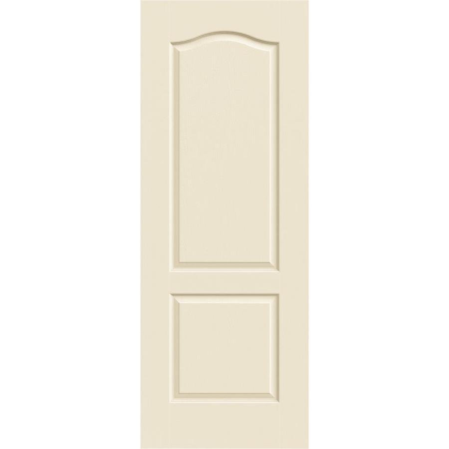 JELD-WEN Cream-N-Sugar Hollow Core 2-Panel Arch Top Slab Interior Door (Common: 24-in x 80-in; Actual: 24-in x 80-in)