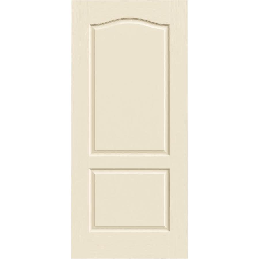 JELD-WEN Cream-N-Sugar Hollow Core 2-Panel Arch Top Slab Interior Door (Common: 36-in x 80-in; Actual: 36-in x 80-in)