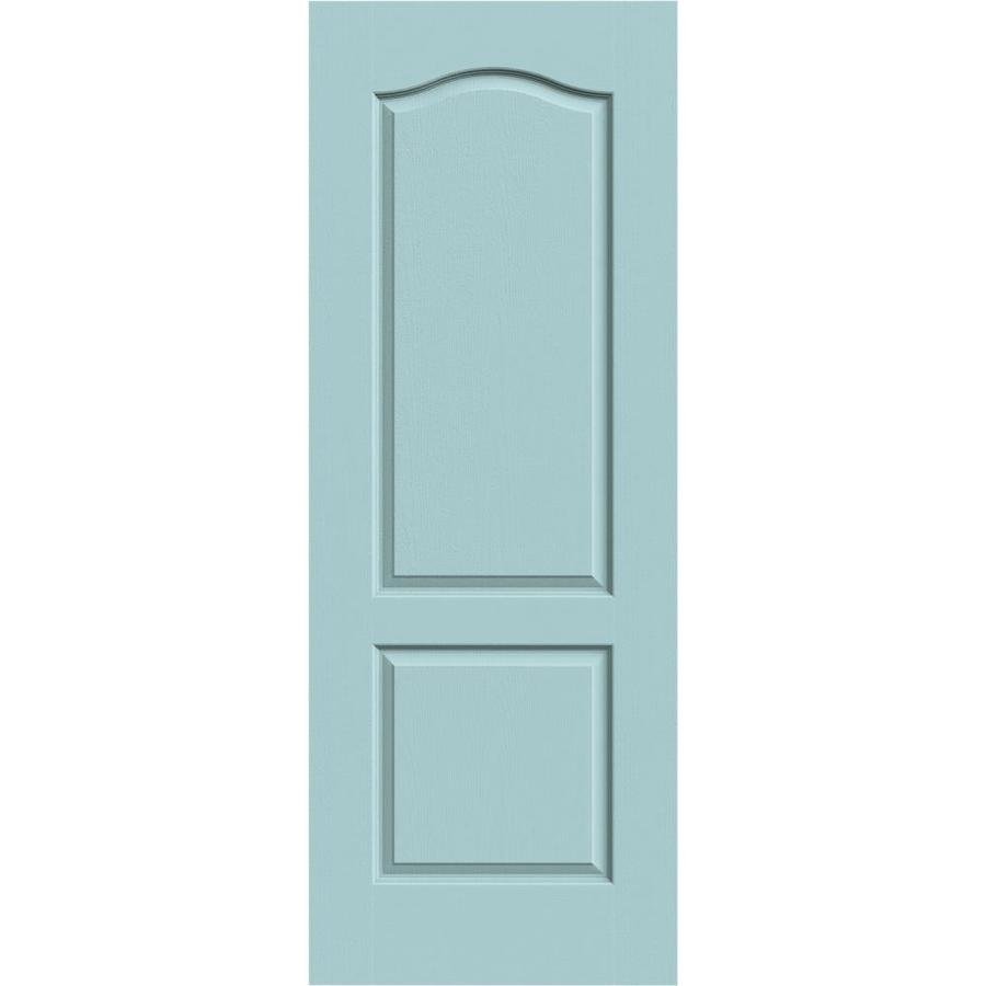 JELD-WEN Sea Mist Hollow Core 2-Panel Arch Top Slab Interior Door (Common: 28-in x 80-in; Actual: 28-in x 80-in)