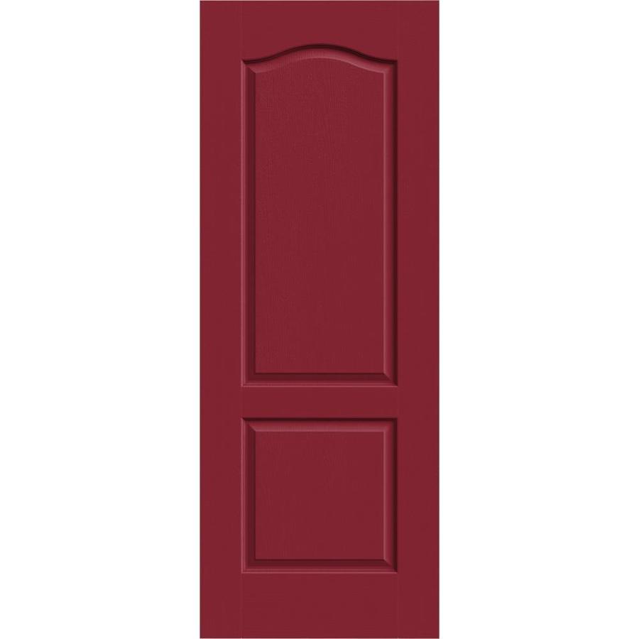JELD-WEN Barn Red Hollow Core 2-Panel Arch Top Slab Interior Door (Common: 30-in x 80-in; Actual: 30-in x 80-in)