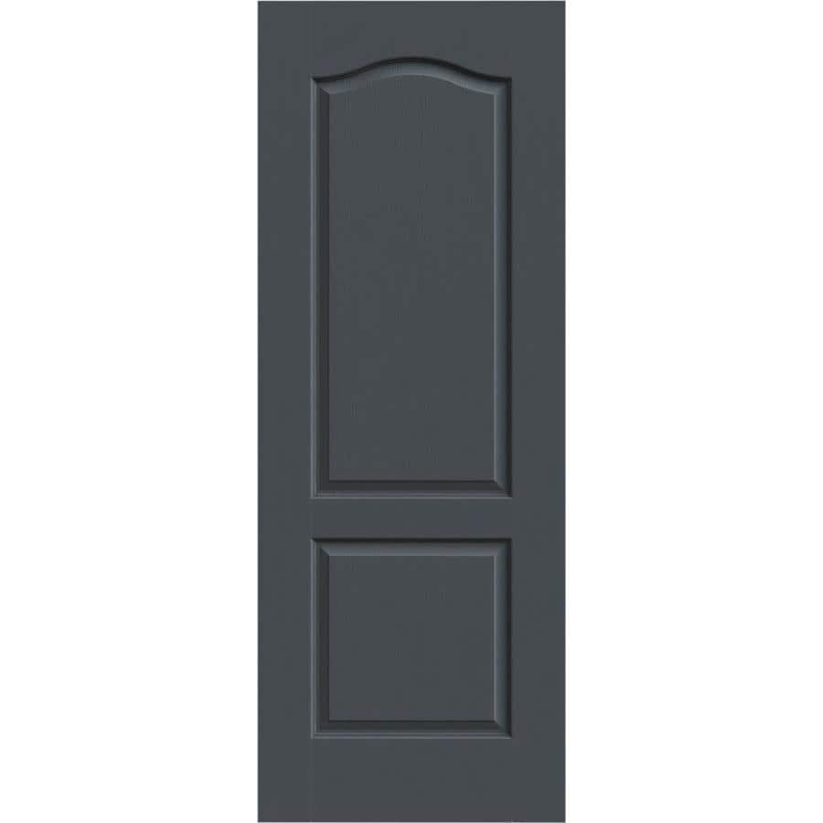 JELD-WEN Slate Hollow Core 2-Panel Arch Top Slab Interior Door (Common: 32-in x 80-in; Actual: 32-in x 80-in)