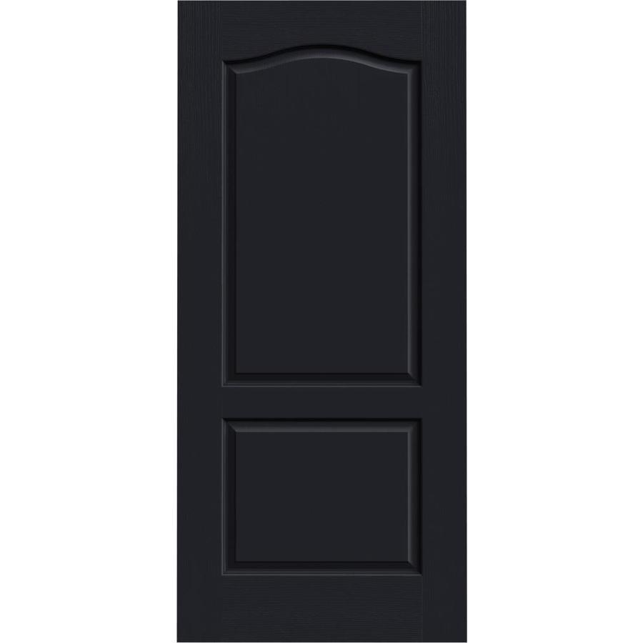 JELD-WEN Midnight Hollow Core 2-Panel Arch Top Slab Interior Door (Common: 36-in x 80-in; Actual: 36-in x 80-in)