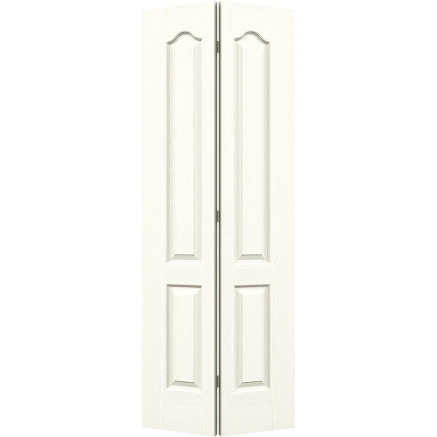 JELD-WEN White Hollow Core 2-Panel Arch Top Bi-Fold Closet Interior Door (Common: 32-in x 80-in; Actual: 31.5-in x 79-in)
