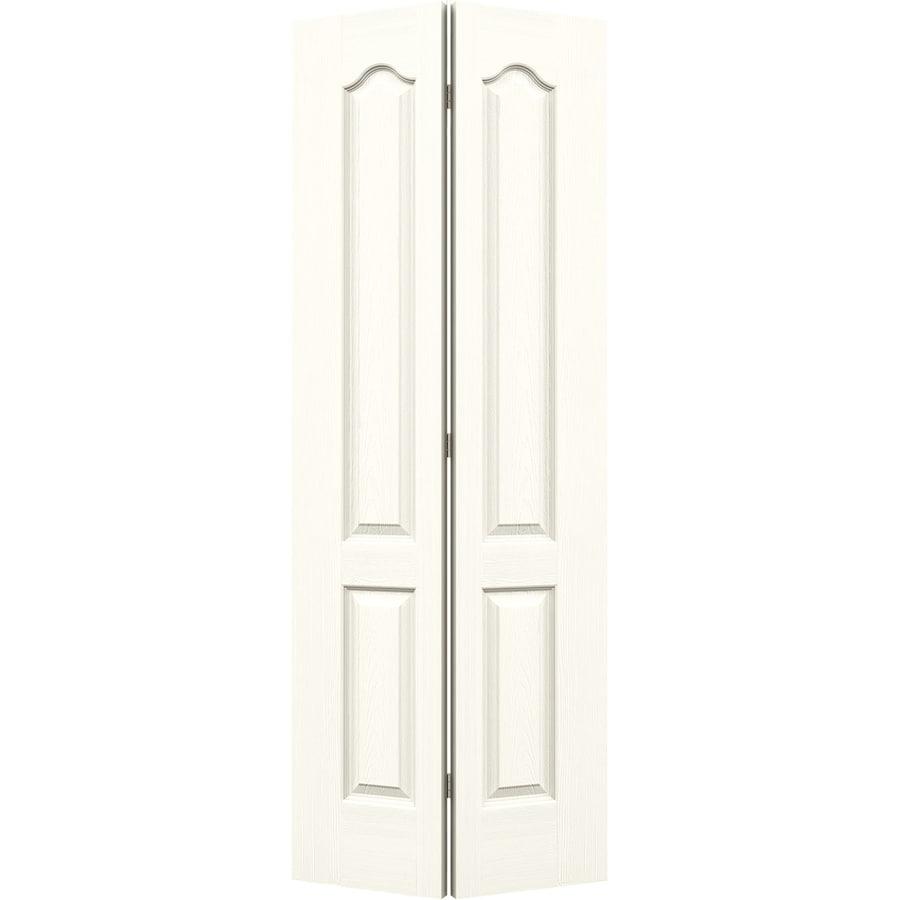 JELD-WEN Moonglow Hollow Core 2-Panel Arch Top Bi-Fold Closet Interior Door (Common: 28-in x 80-in; Actual: 27.5-in x 79-in)