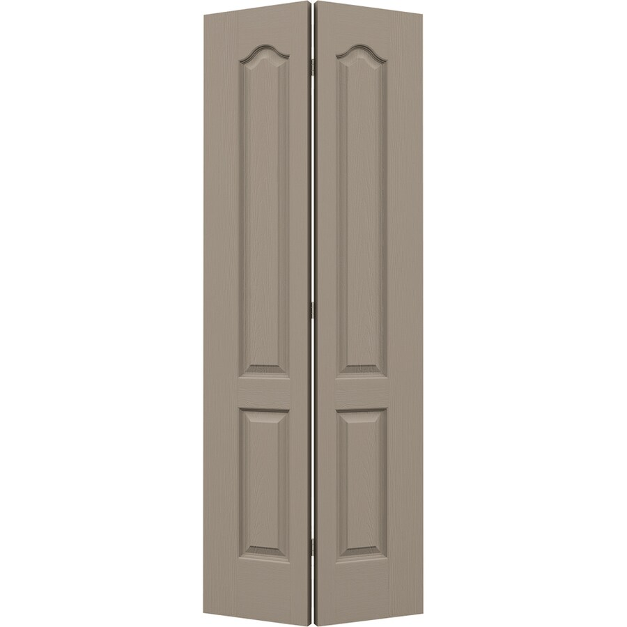 JELD-WEN Sand Piper Hollow Core 2-Panel Arch Top Bi-Fold Closet Interior Door (Common: 28-in x 80-in; Actual: 27.5-in x 79-in)