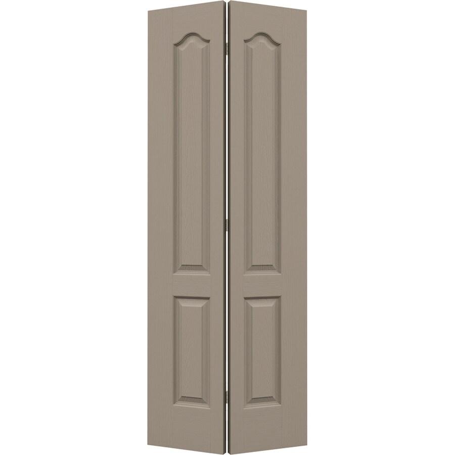 JELD-WEN Sand Piper Hollow Core 2-Panel Arch Top Bi-Fold Closet Interior Door (Common: 32-in x 80-in; Actual: 31.5-in x 79-in)