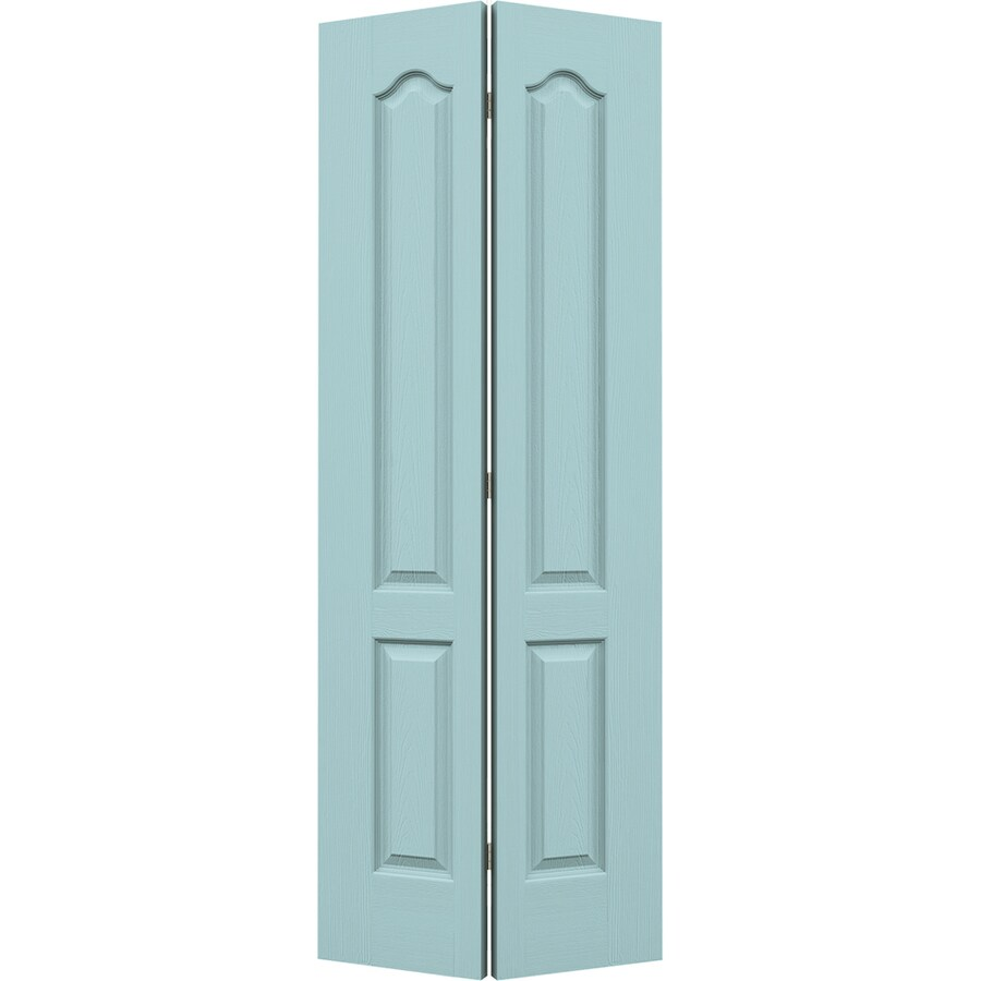 JELD-WEN Sea Mist Hollow Core 2-Panel Arch Top Bi-Fold Closet Interior Door (Common: 28-in x 80-in; Actual: 27.5-in x 79-in)