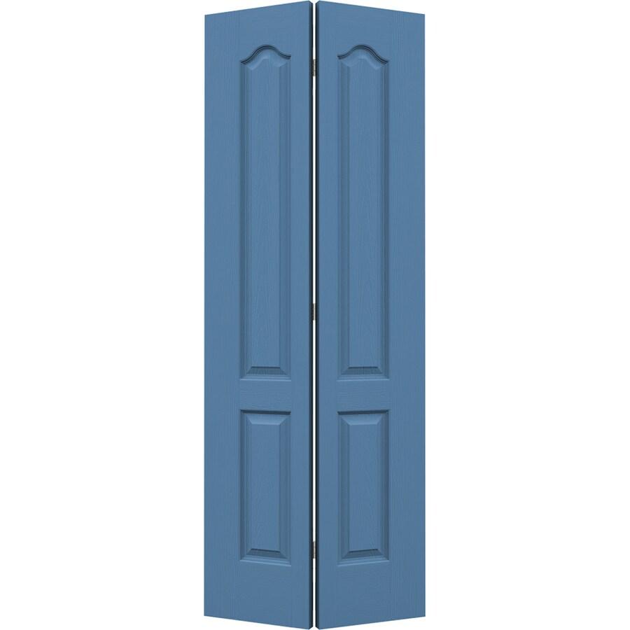 JELD-WEN Blue Heron Hollow Core 2-Panel Arch Top Bi-Fold Closet Interior Door (Common: 32-in x 80-in; Actual: 31.5-in x 79-in)