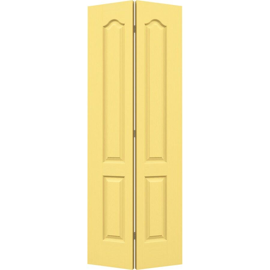 JELD-WEN Marigold Hollow Core 2-Panel Arch Top Bi-Fold Closet Interior Door (Common: 32-in x 80-in; Actual: 31.5-in x 79-in)