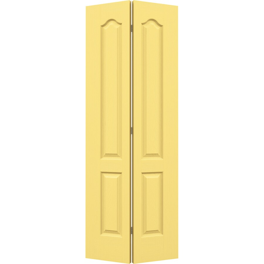 JELD-WEN Marigold Hollow Core 2-Panel Arch Top Bi-Fold Closet Interior Door (Common: 36-in x 80-in; Actual: 35.5-in x 79-in)