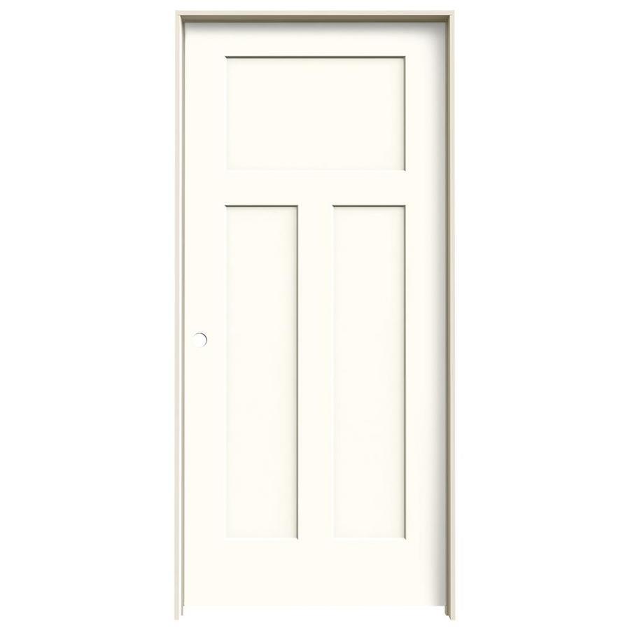JELD-WEN Moonglow Prehung Hollow Core 3-Panel Craftsman Interior Door (Common: 36-in x 80-in; Actual: 37.562-in x 81.688-in)
