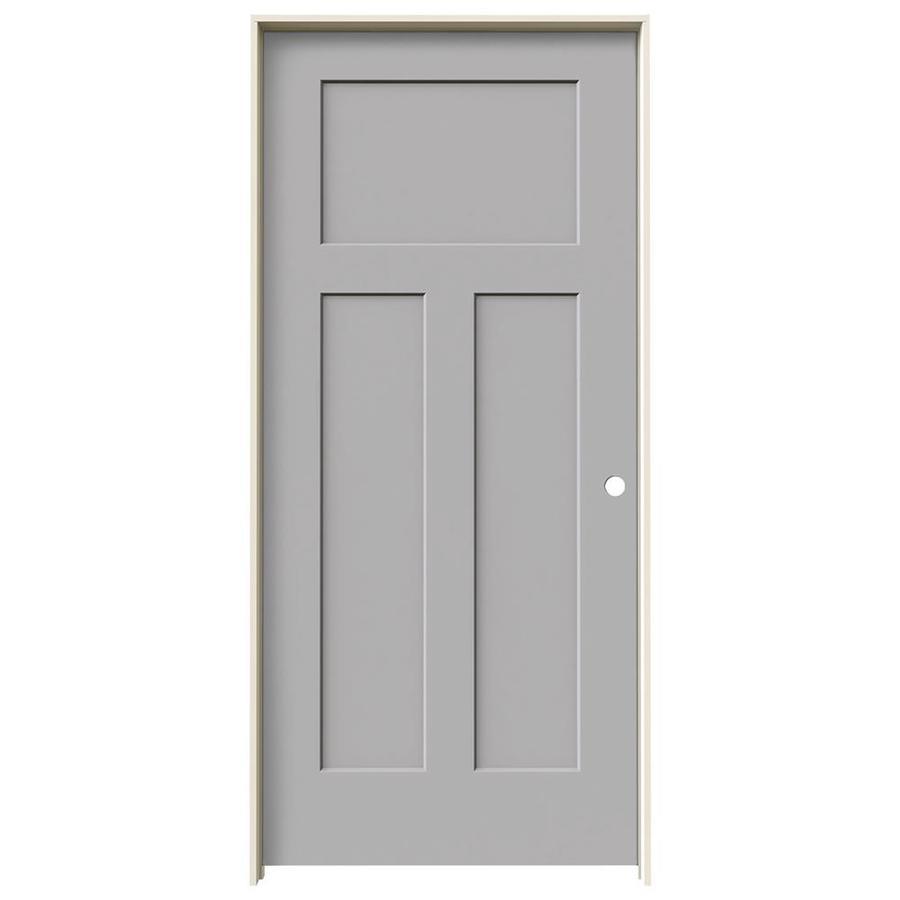 JELD-WEN Driftwood Prehung Hollow Core 3-Panel Craftsman Interior Door (Common: 36-in x 80-in; Actual: 37.562-in x 81.688-in)