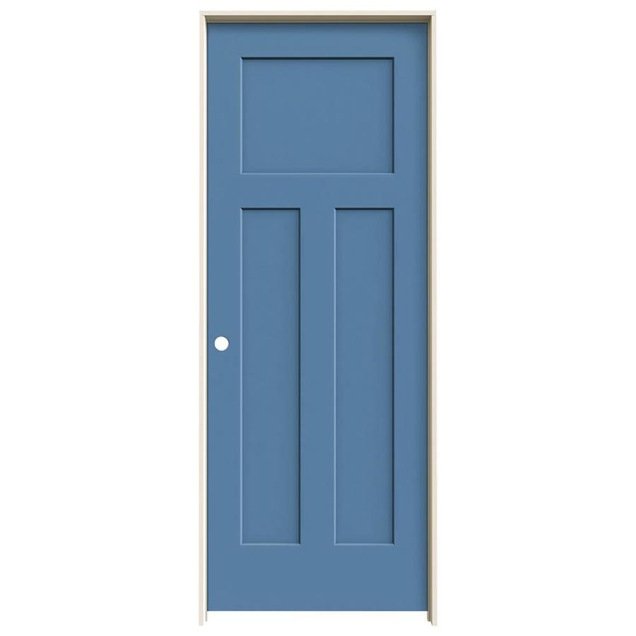 JELD-WEN Blue Heron Prehung Hollow Core 3-Panel Craftsman Interior Door (Common: 32-in x 80-in; Actual: 33.562-in x 81.688-in)