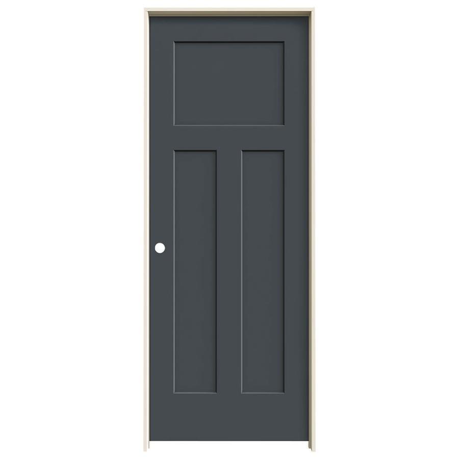 JELD-WEN Slate Prehung Solid Core 3-Panel Craftsman Interior Door (Common: 30-in x 80-in; Actual: 31.562-in x 81.688-in)