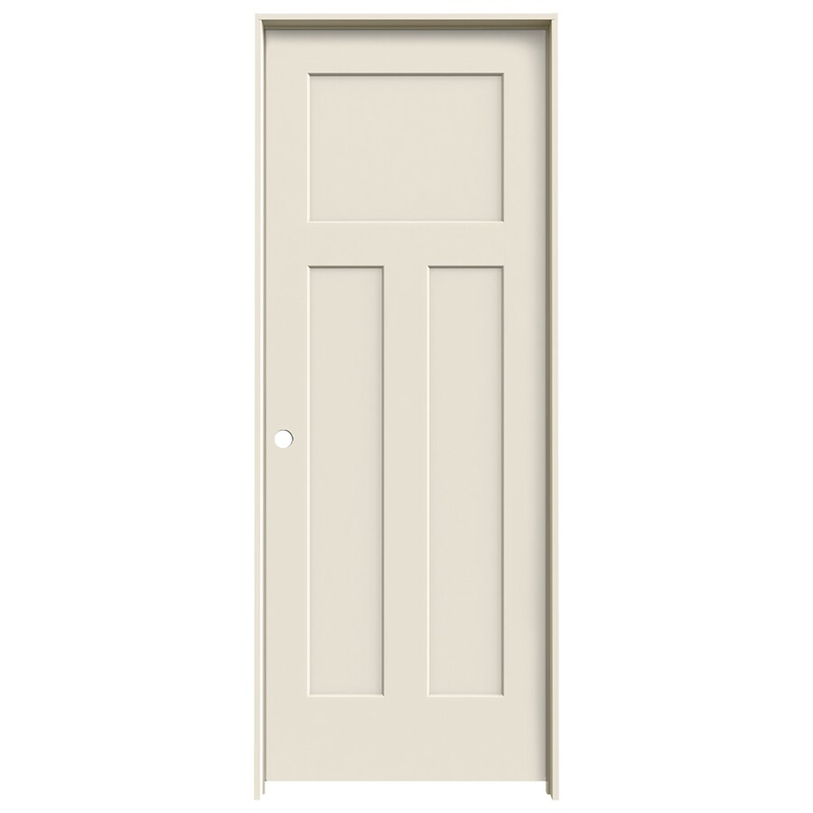 Shop Jeld Wen Prehung Solid Core 3 Panel Craftsman Interior Door Common 24 In X 80 In Actual
