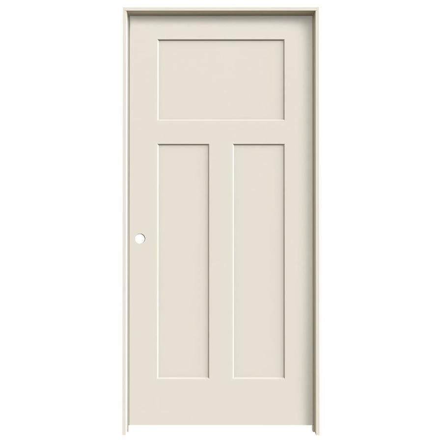 JELD-WEN Prehung Solid Core 3-Panel Craftsman Interior Door (Common: 36-in x 80-in; Actual: 37.562-in x 81.688-in)