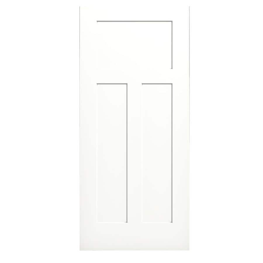 JELD-WEN Snow Storm Solid Core 3-Panel Craftsman Slab Interior Door (Common: 36-in x 80-in; Actual: 36-in x 80-in)