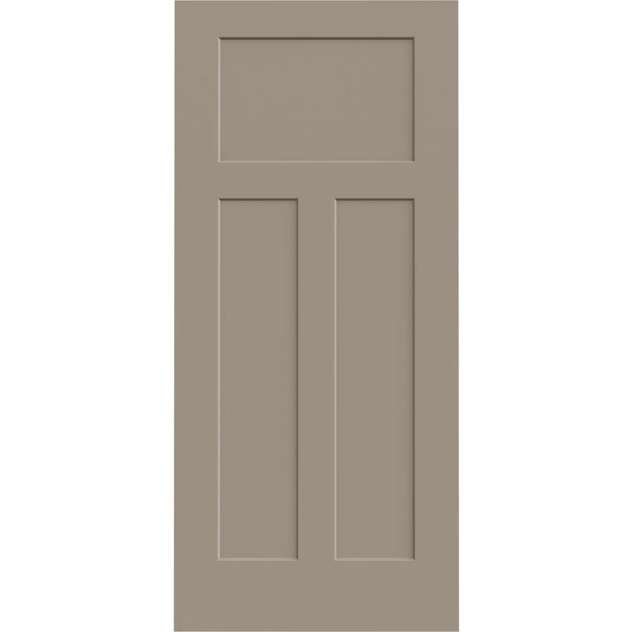 JELD-WEN Sand Piper Solid Core 3-Panel Craftsman Slab Interior Door (Common: 36-in x 80-in; Actual: 36-in x 80-in)