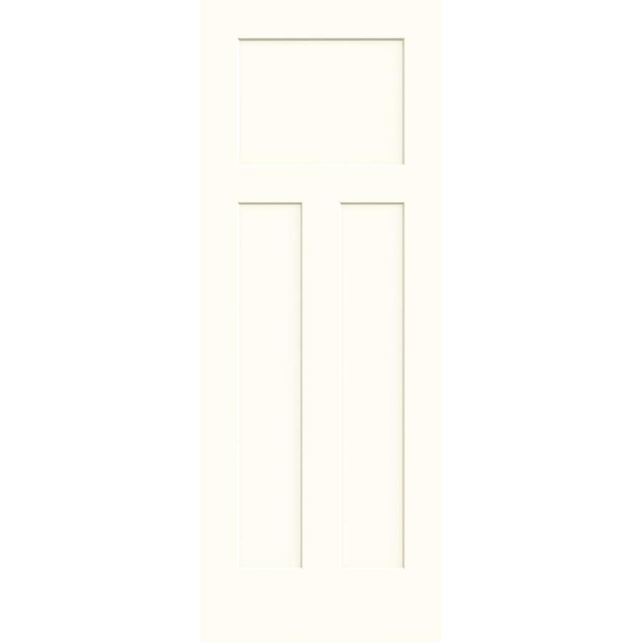 JELD-WEN Moonglow Hollow Core 3-Panel Craftsman Slab Interior Door (Common: 28-in x 80-in; Actual: 28-in x 80-in)