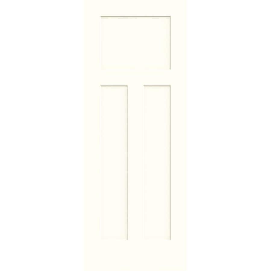 JELD-WEN Moonglow Hollow Core 3-Panel Craftsman Slab Interior Door (Common: 30-in x 80-in; Actual: 30-in x 80-in)