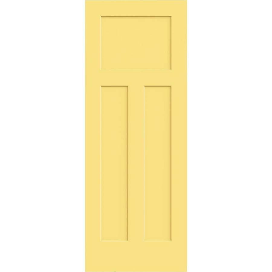 JELD-WEN Marigold Hollow Core 3-Panel Craftsman Slab Interior Door (Common: 28-in x 80-in; Actual: 28-in x 80-in)