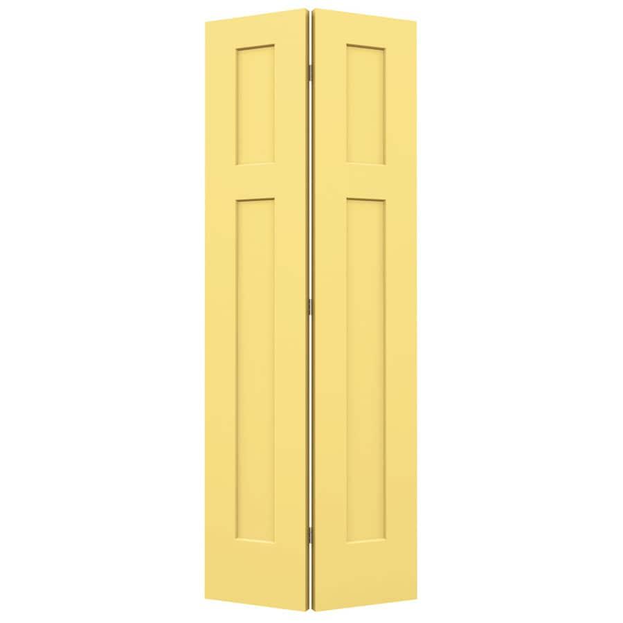 JELD-WEN Marigold Hollow Core 2-Panel Square Bi-Fold Closet Interior Door (Common: 32-in x 80-in; Actual: 31.5-in x 79-in)
